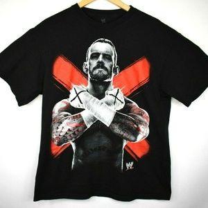 WWE CM Punk Men's T-Shirt Big Graphic Vintage 2012